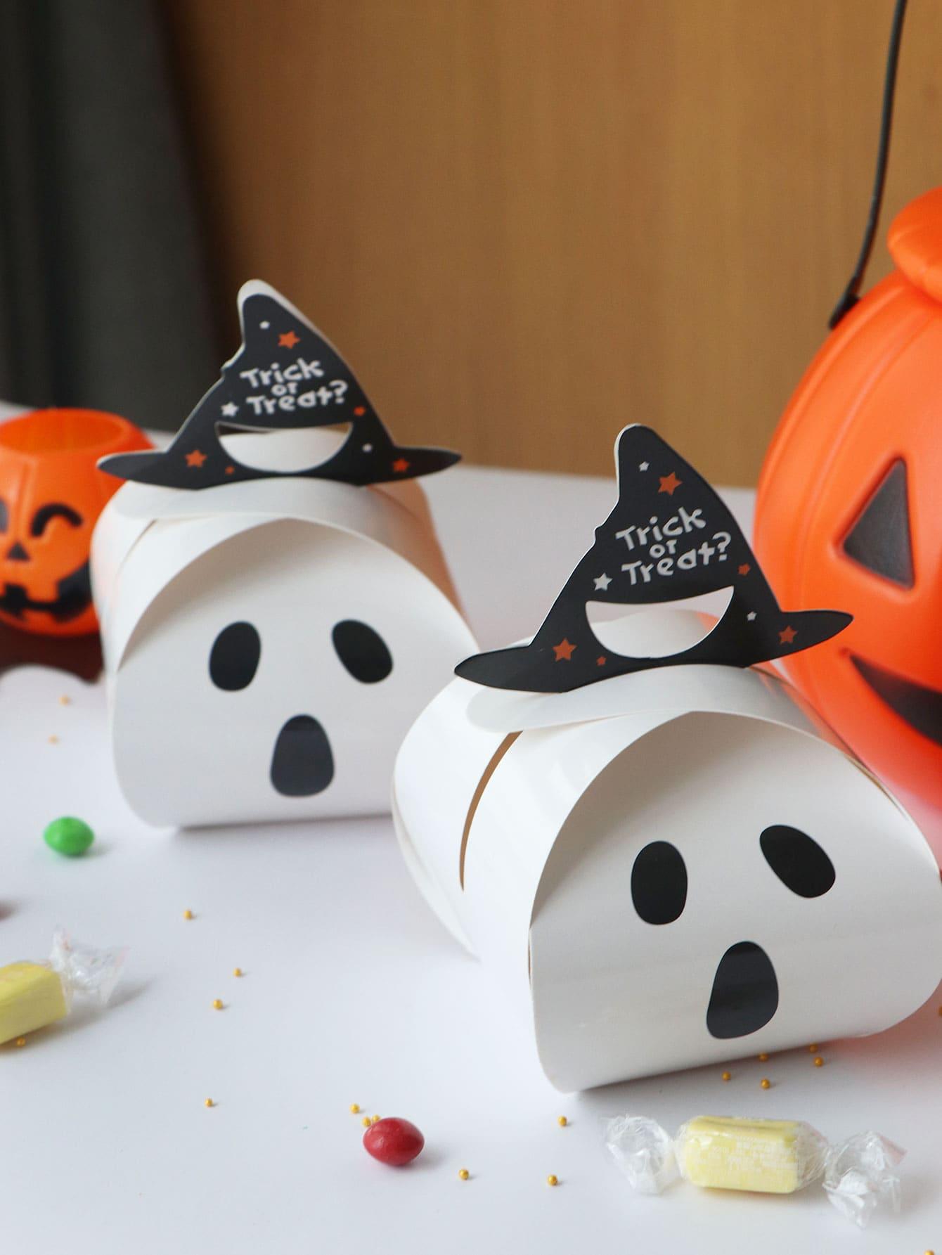 Купить Хэллоуин Призрачный ящик с ручкой Hat 10шт, null, SheIn