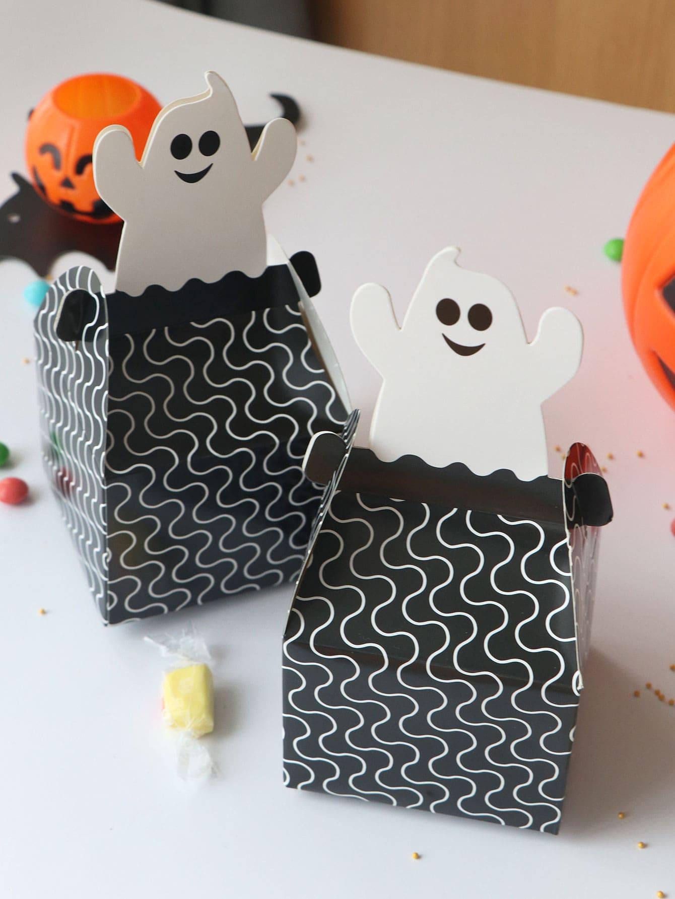 Купить Хэллоуин волнистая линия шаблон 10шт, null, SheIn