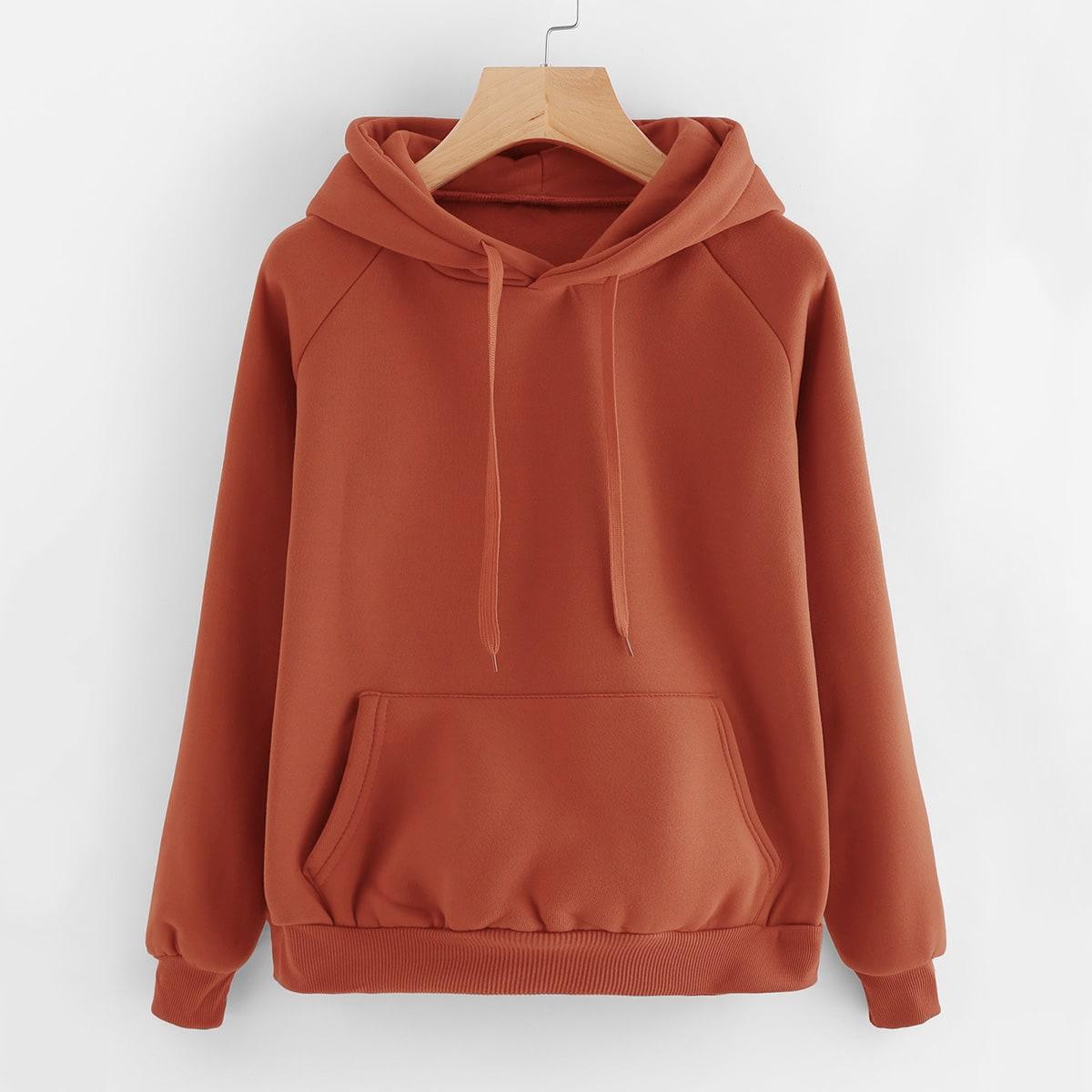 Casual hoodie met grote zak