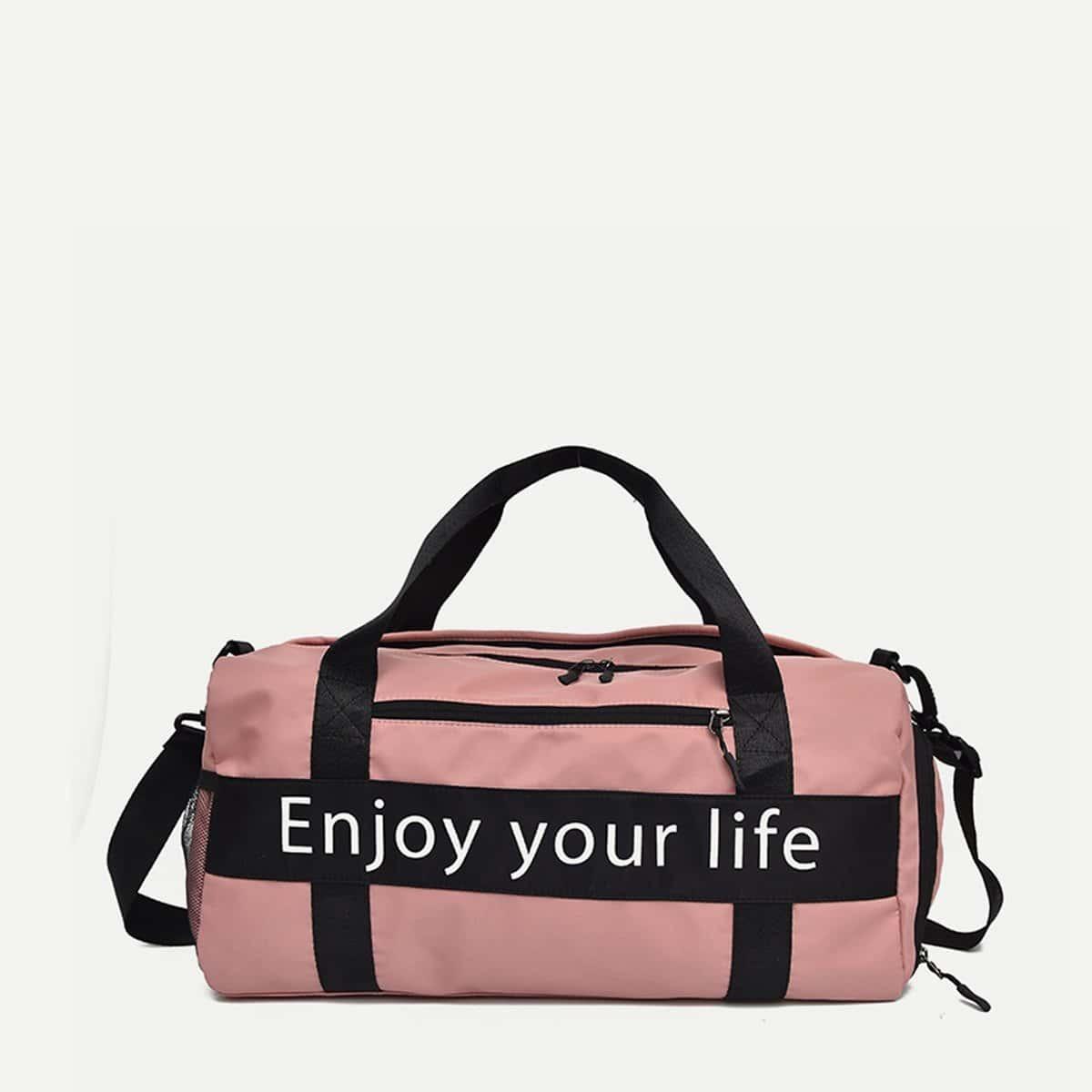 Спортивная сумка с принтом лозунгов от SHEIN