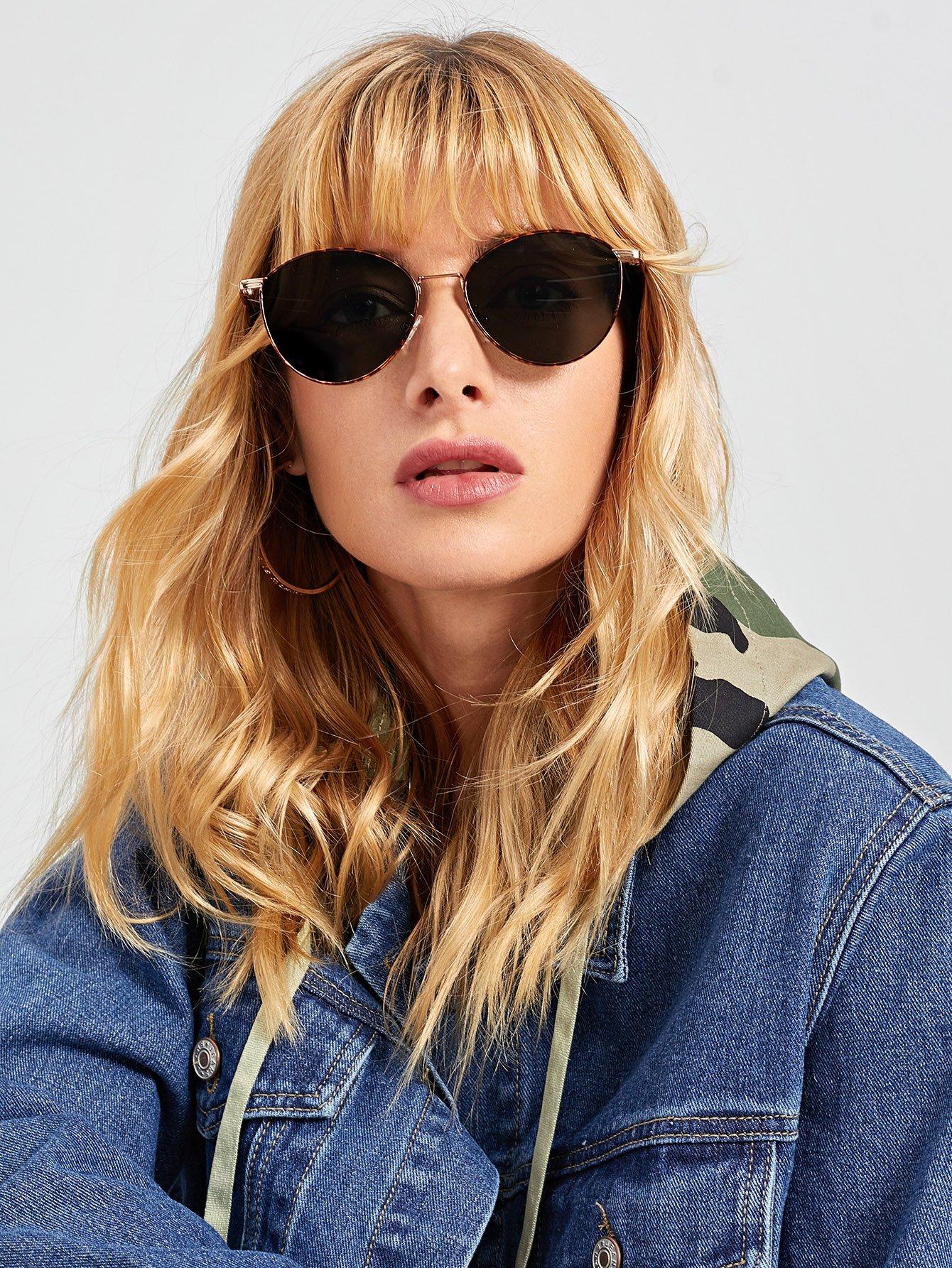Купить Солнцезащитные очки с леопардовыми оправами и цветными линзами, null, SheIn