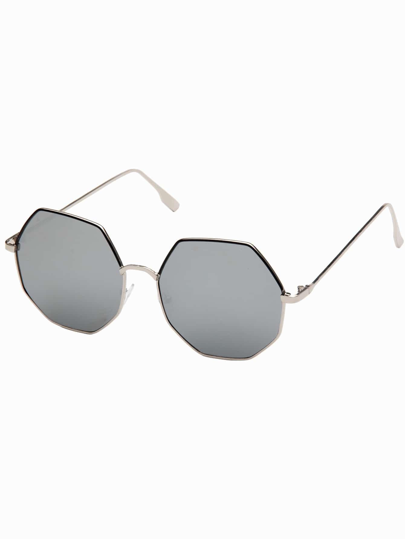 Купить Мужские солнцезащитные очки с многоугольными оправами, null, SheIn