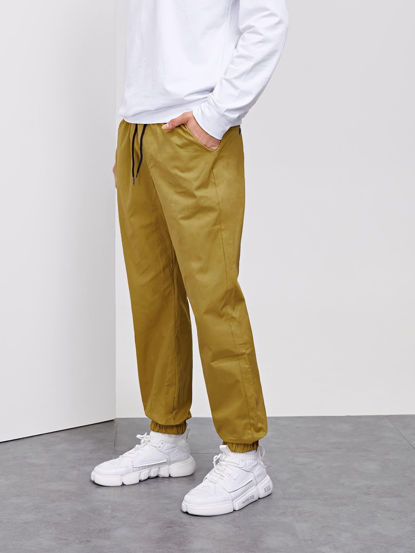 Les Hommes Solide Cordon De Serrage Pantalon De