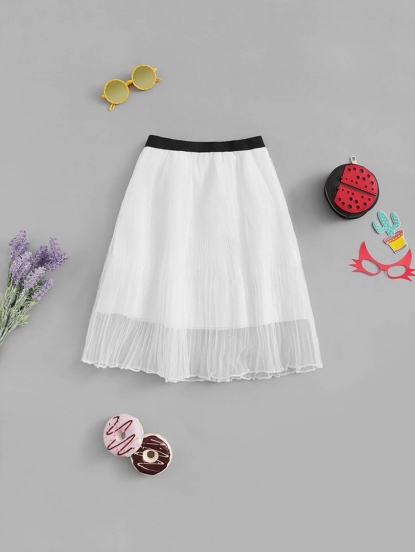 Купить Симметрическая юбка для девочек, null, SheIn