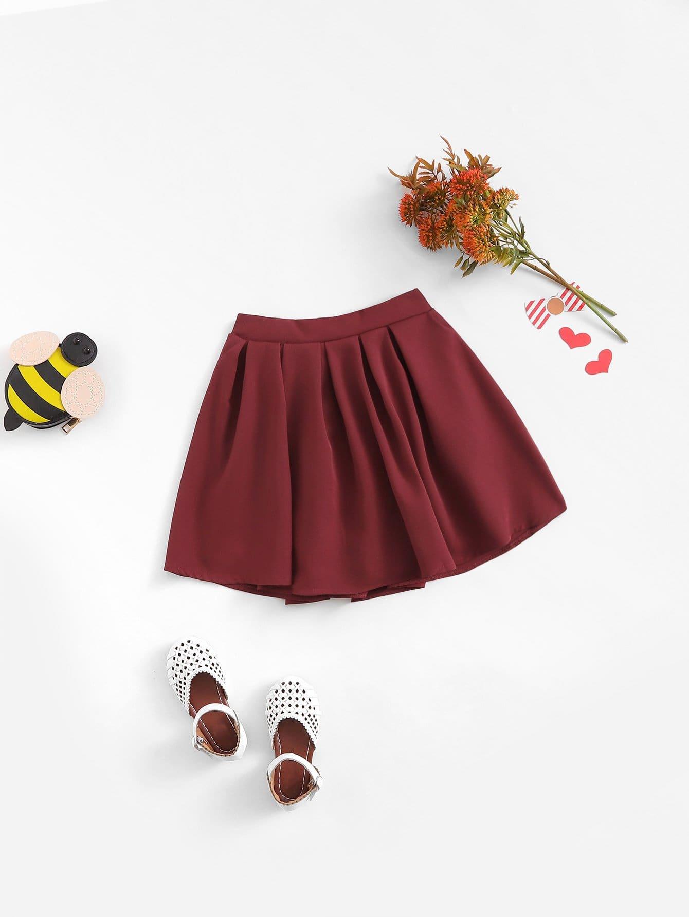 Купить Плиссированная юбка для девочек, null, SheIn