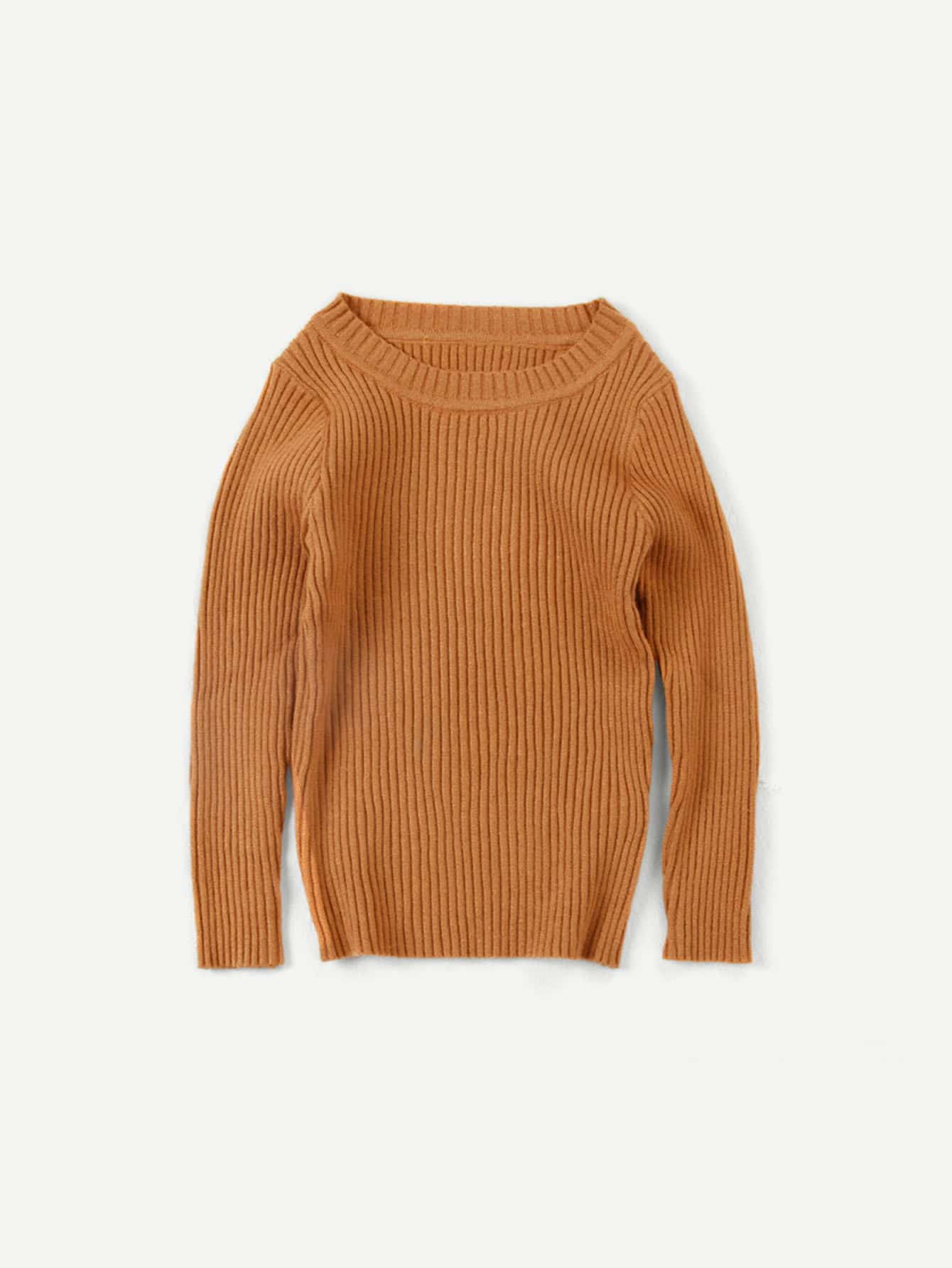 Girls Solid Sweater