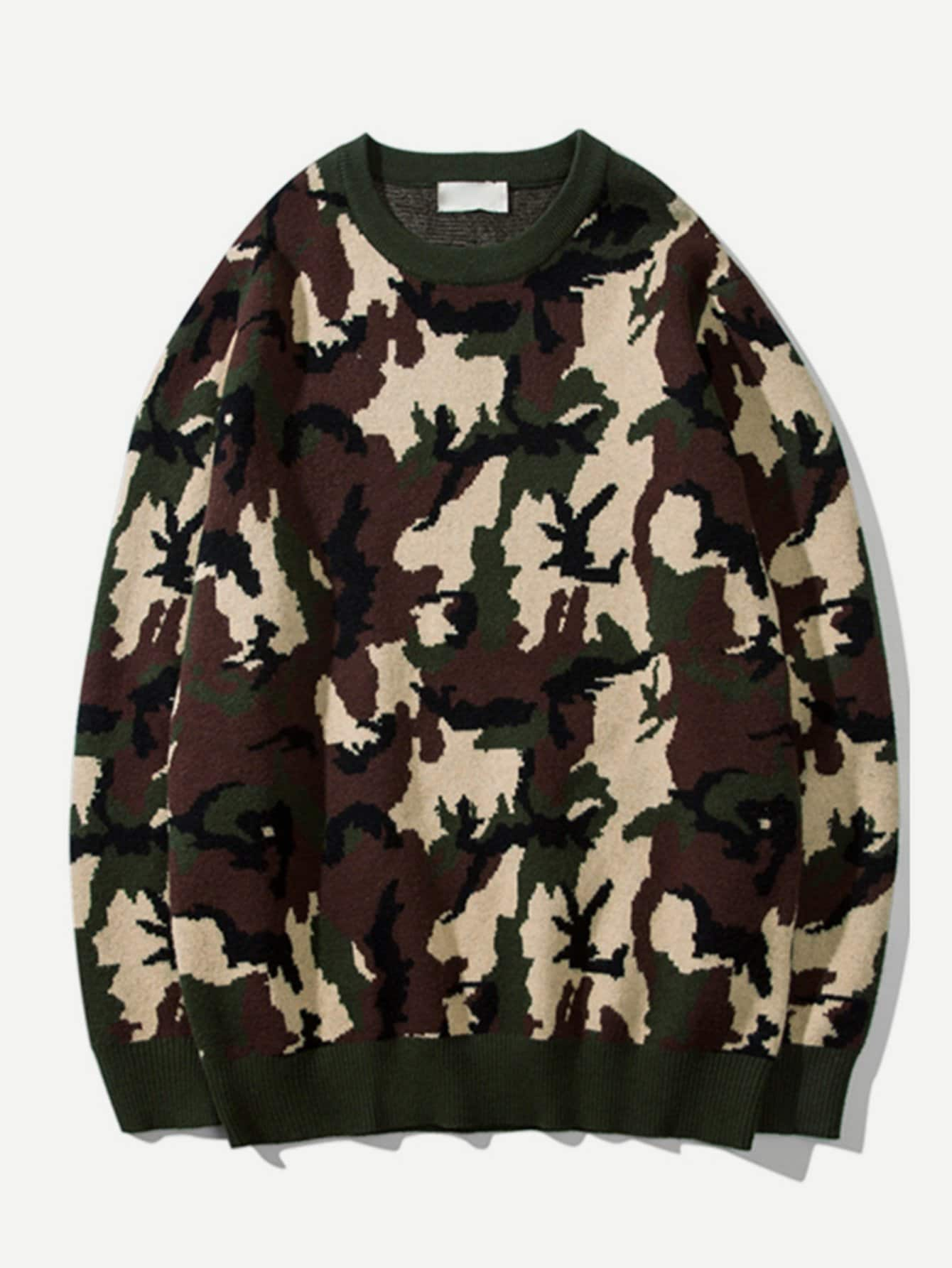 Les Hommes De Camouflage Pull Pull