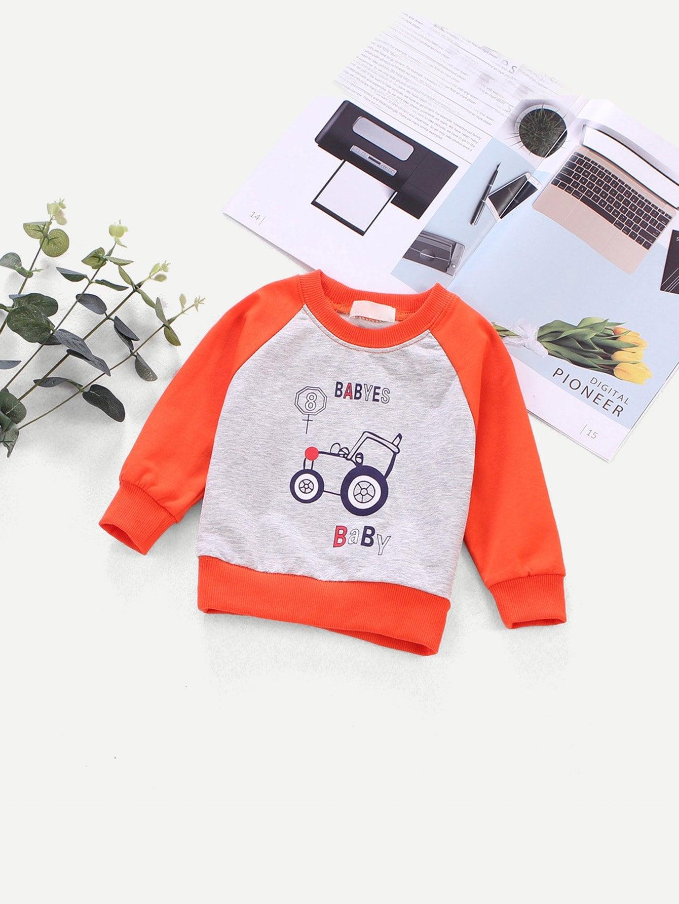 Boys Cartoon Print Sweatshirt