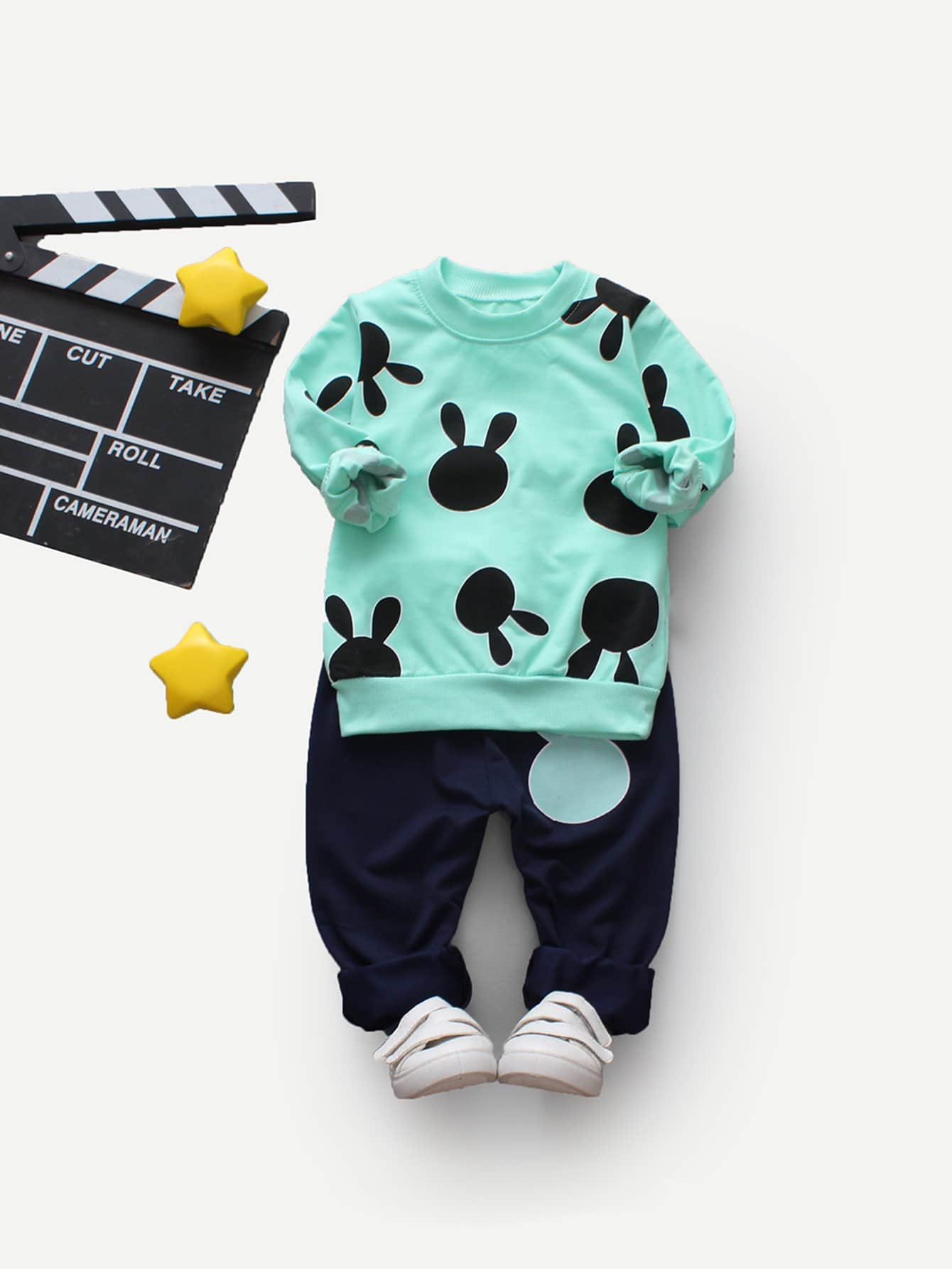 Boys Cartoon Pullover With Pants