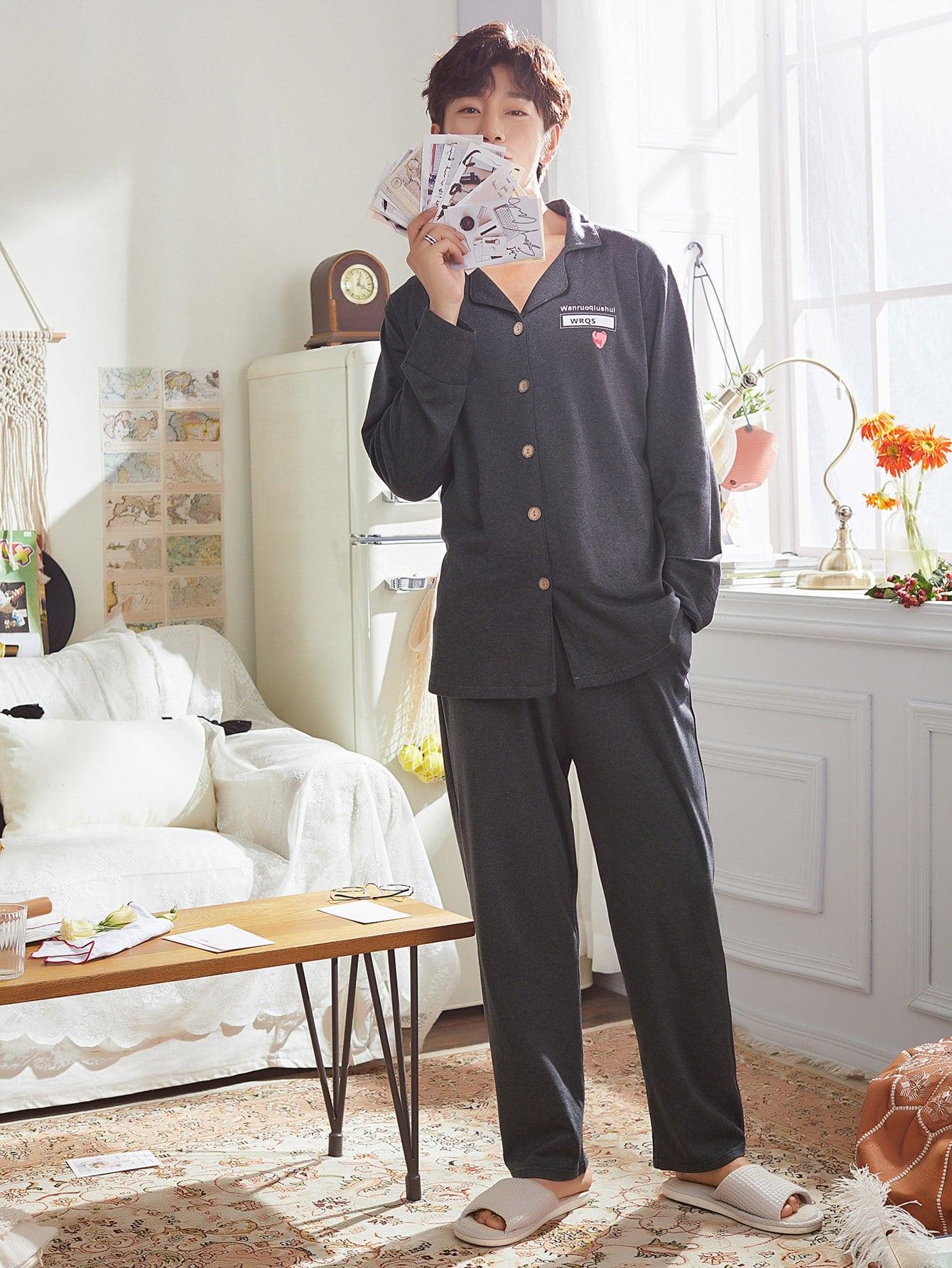 Les Hommes De La Fraise Bouton Imprimer Haut De Pyjama Set
