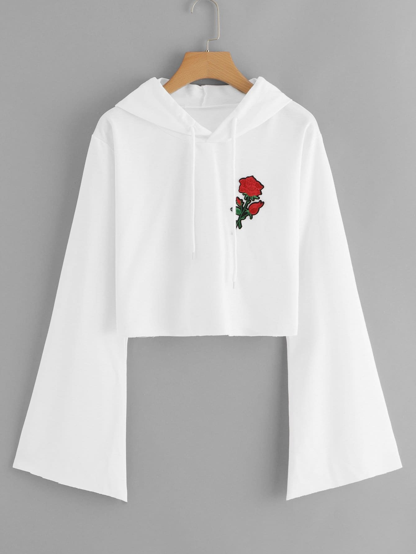 Cordon De Serrage Capuche Rose Appliques Sweat-Shirt