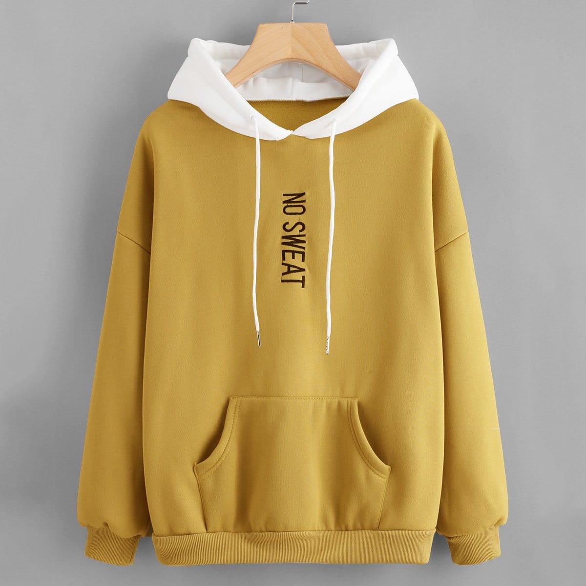 Gember  Casual Tekst Sweater Borduurwerk