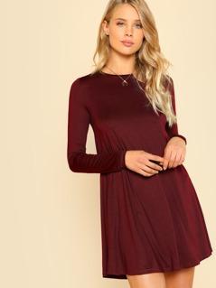 Solid Swing Dress