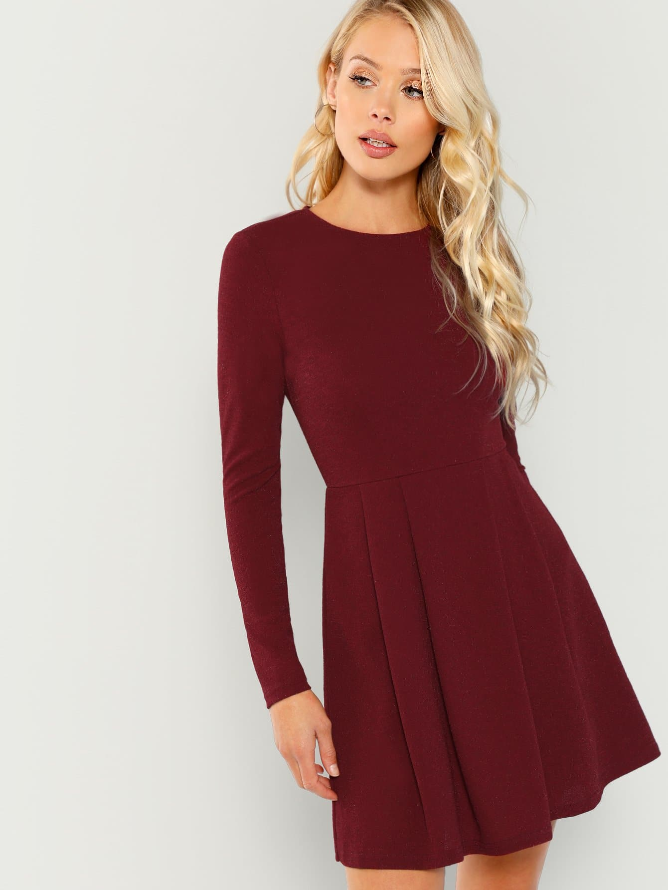 Купить Тверное платье-клёш, Allie Leggett, SheIn