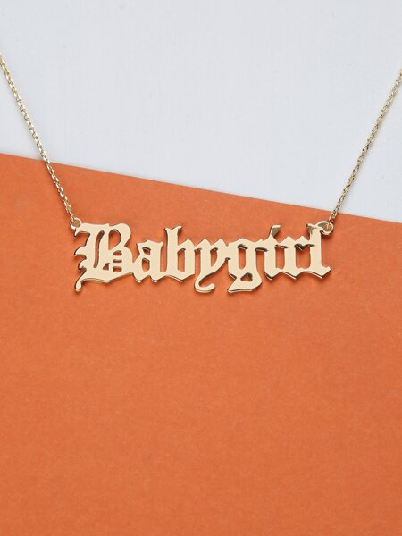 Baby Girl Cursive Chain Necklace
