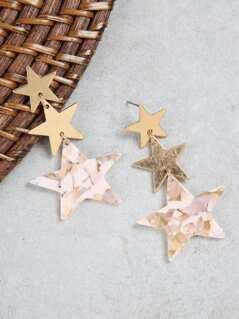 Dangle Star Trio Earrings