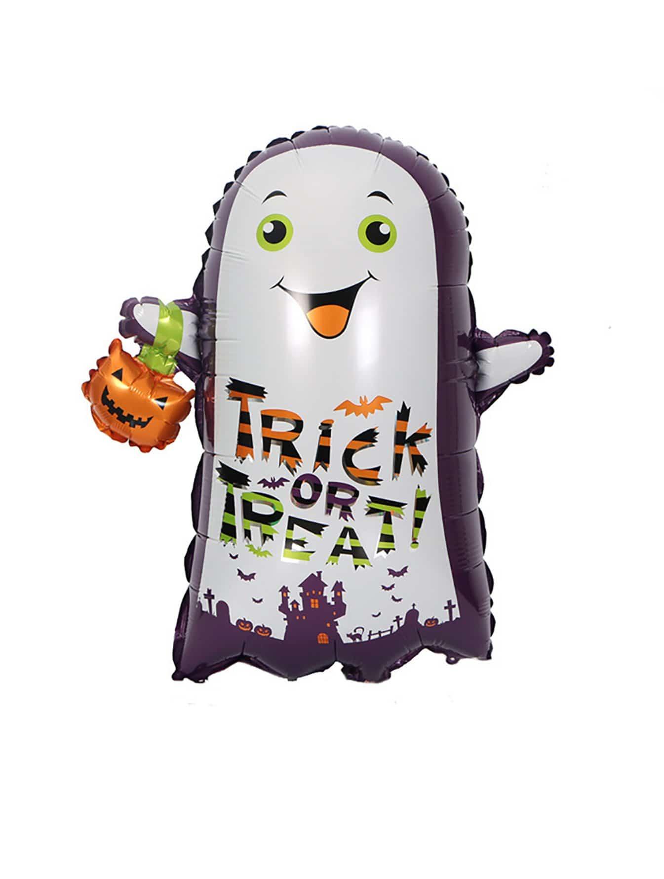 1 шт. Хэллоуин привидение воздушный шар, null, SheIn  - купить со скидкой