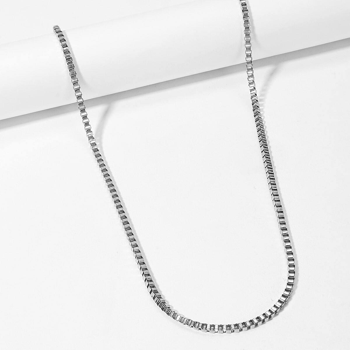 Мужское металлическое ожерелье с подвеской в форме волны от SHEIN
