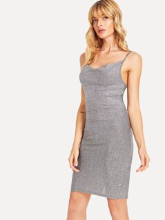 Glitter Bodycon Slip Dress