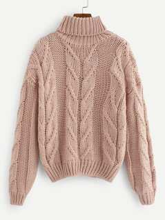 Rolled Neck Solid Jumper