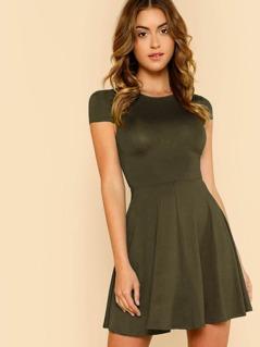Open Back Fit & Flared Dress