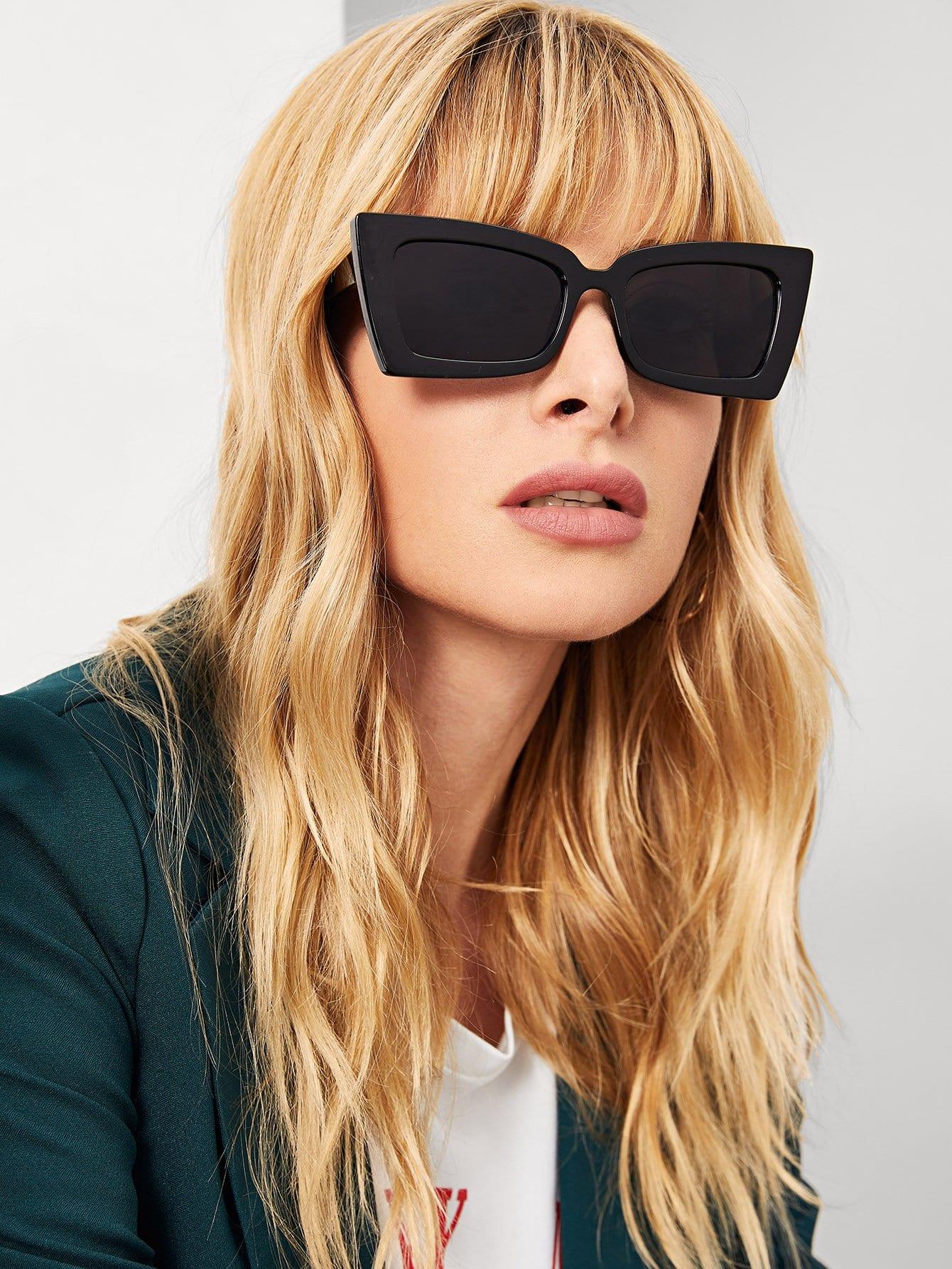 Купить Простые солнцезащитные очки с нерегулярными оправами, null, SheIn