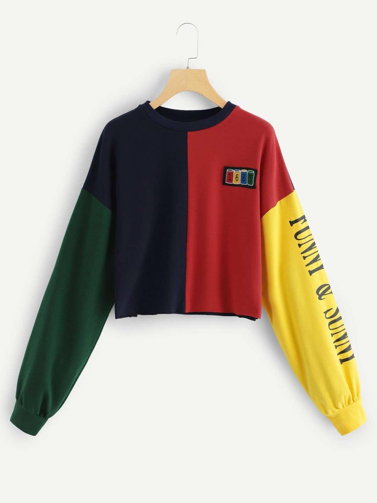 色塊 字母 圖片 T恤衫