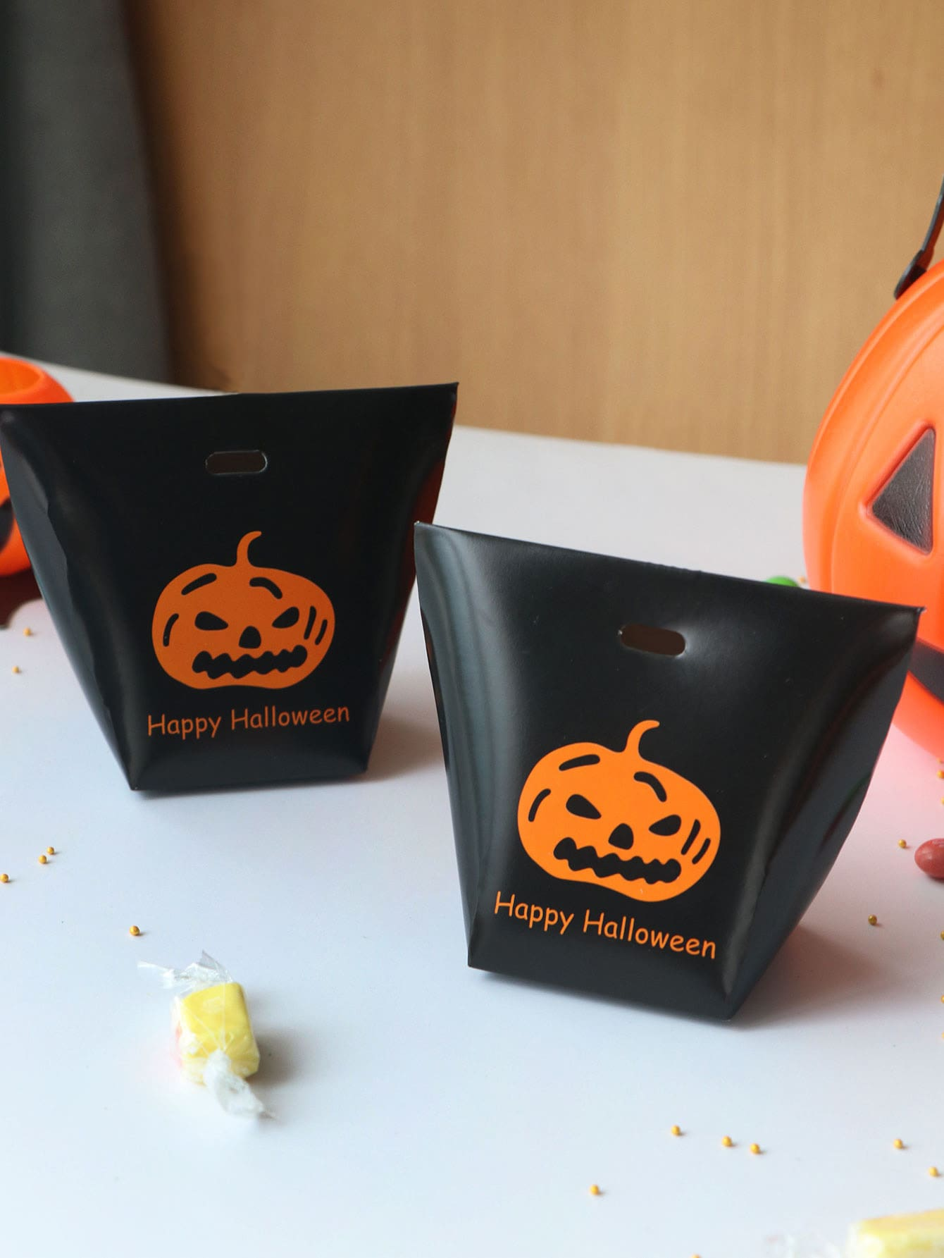 Купить Хэллоуинская тыквенная коробка для печати 10шт., null, SheIn
