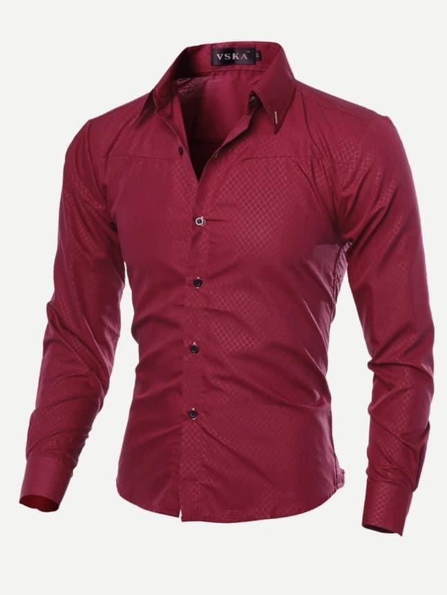 Купить Мужская простая футболка с длинными рукавами, null, SheIn