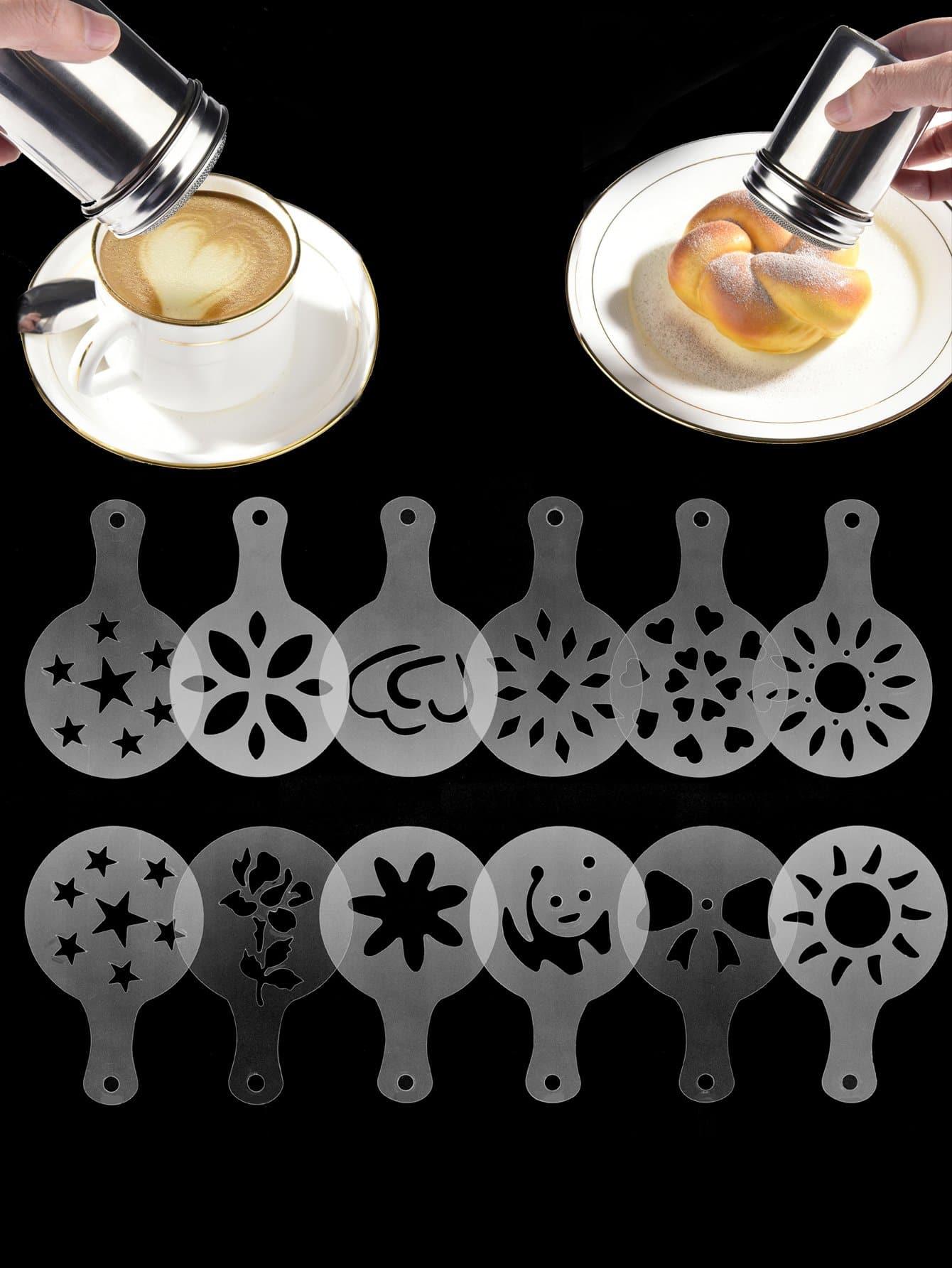 Купить Формовка для кофе 12 шт с с порошковой банкой, null, SheIn