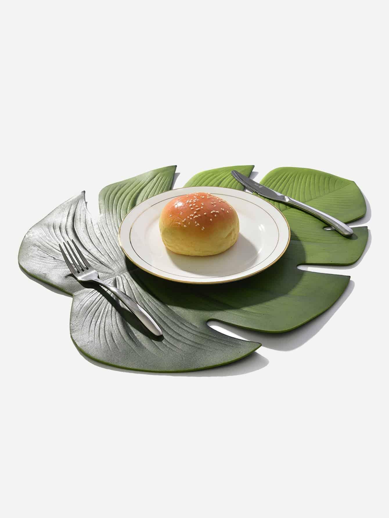 Купить Подстилка для стола в форме пальмового листа 1 шт, null, SheIn