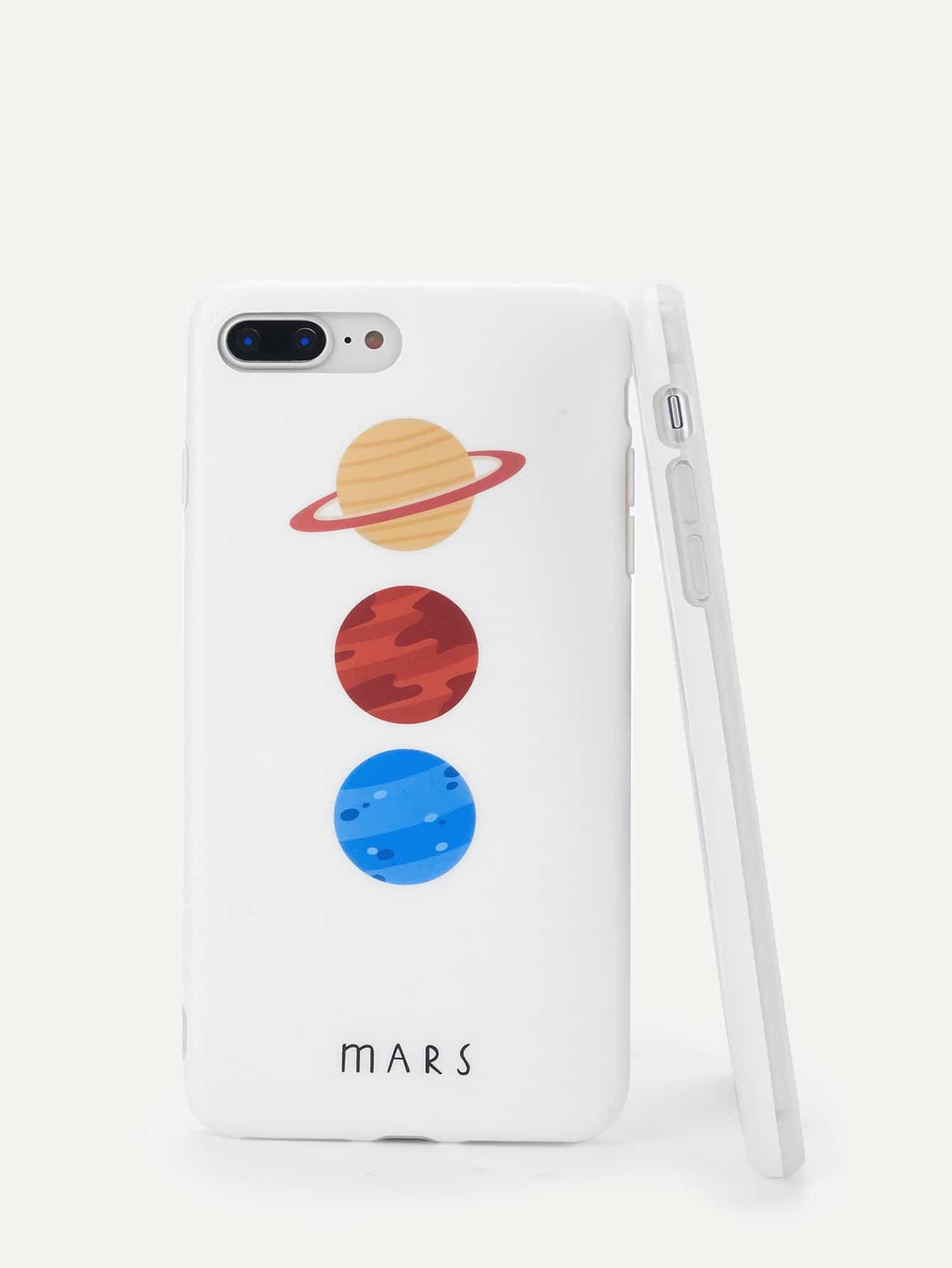 Купить Корпус сотового телефона для iPhone с принтом растений, null, SheIn
