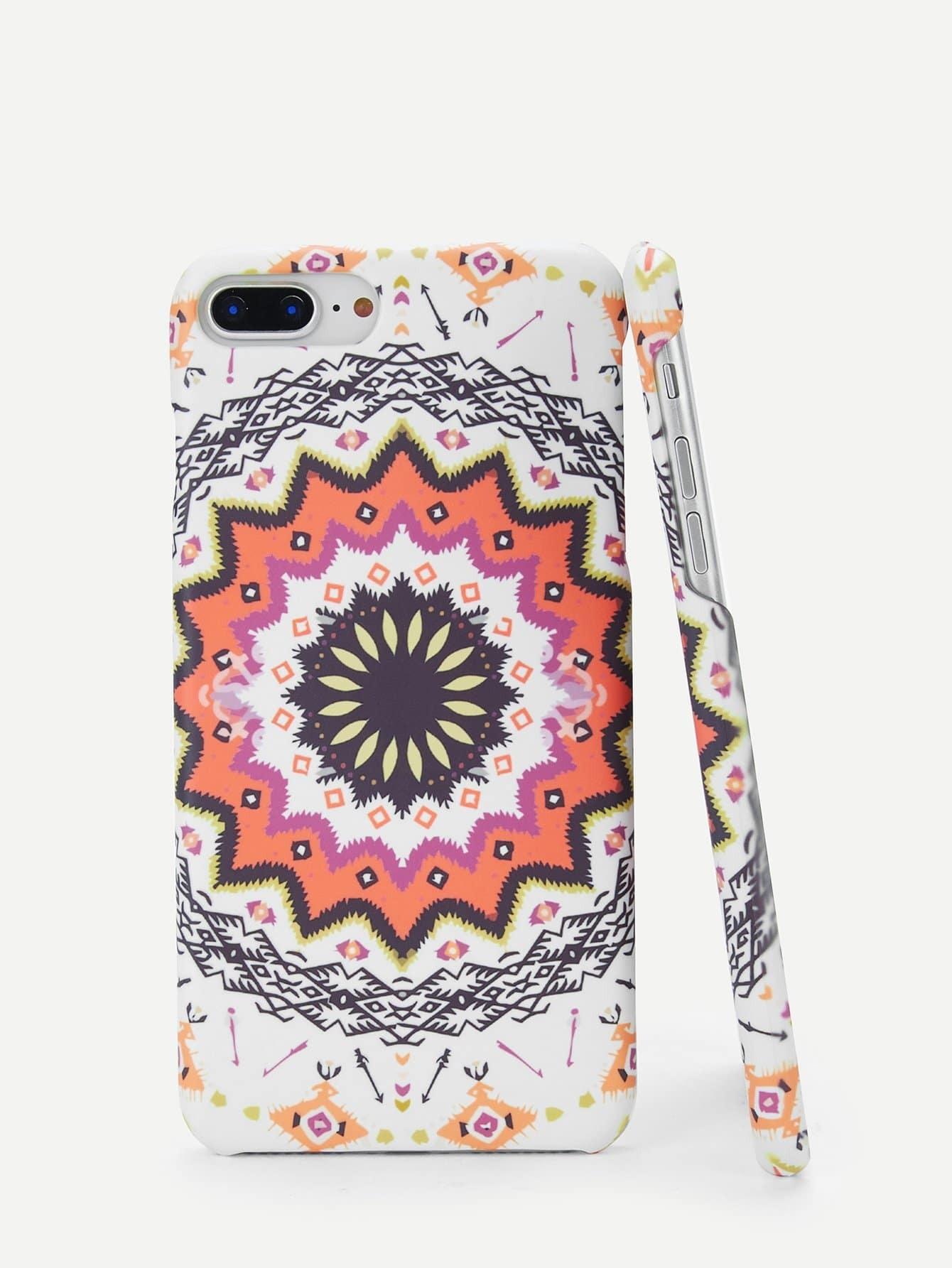 Купить Ситцевый круглый корпус сотового телефона для iPhone, null, SheIn