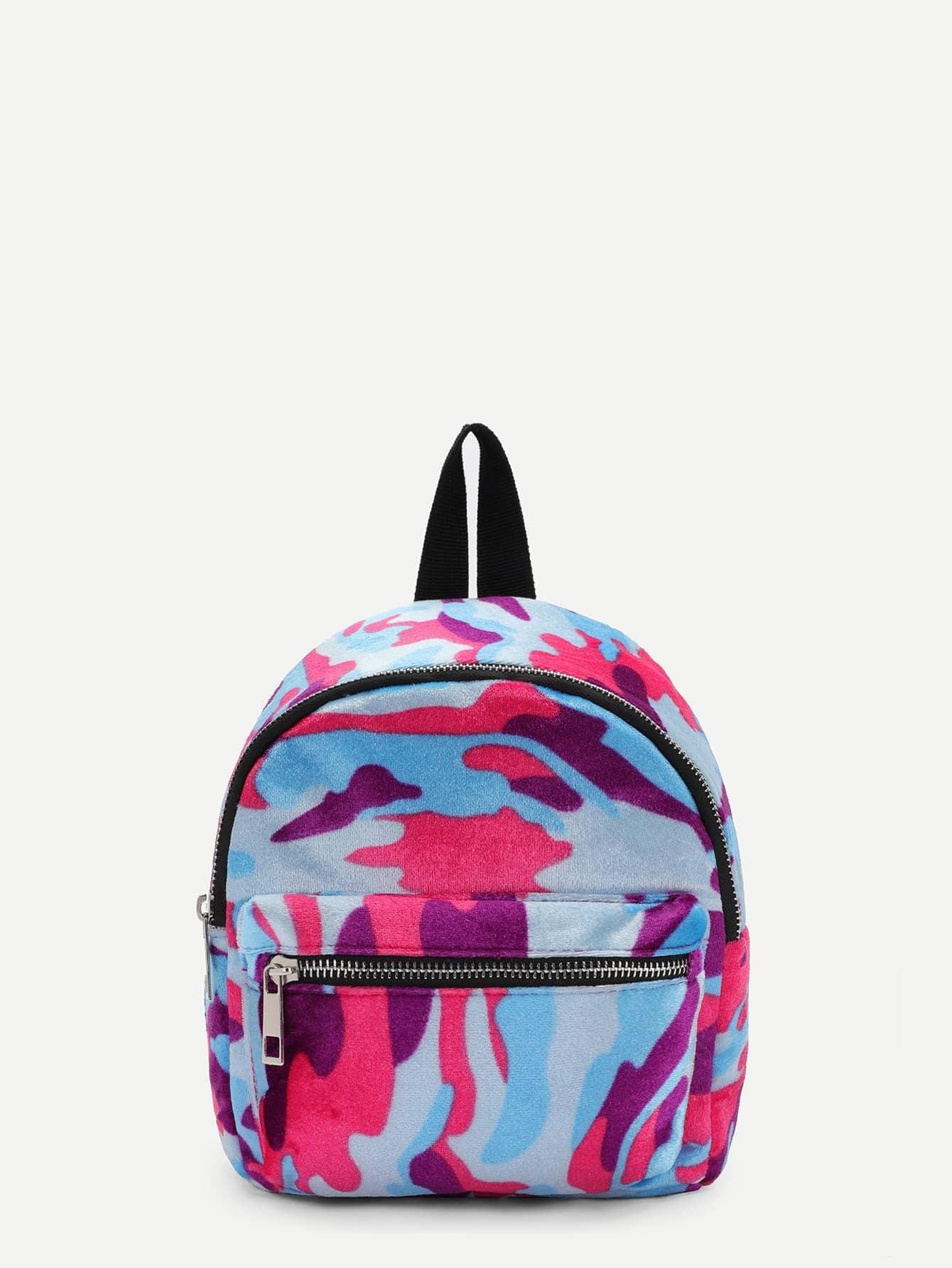 Купить Камуфляжный рюкзак с застёжкой молния перед, null, SheIn