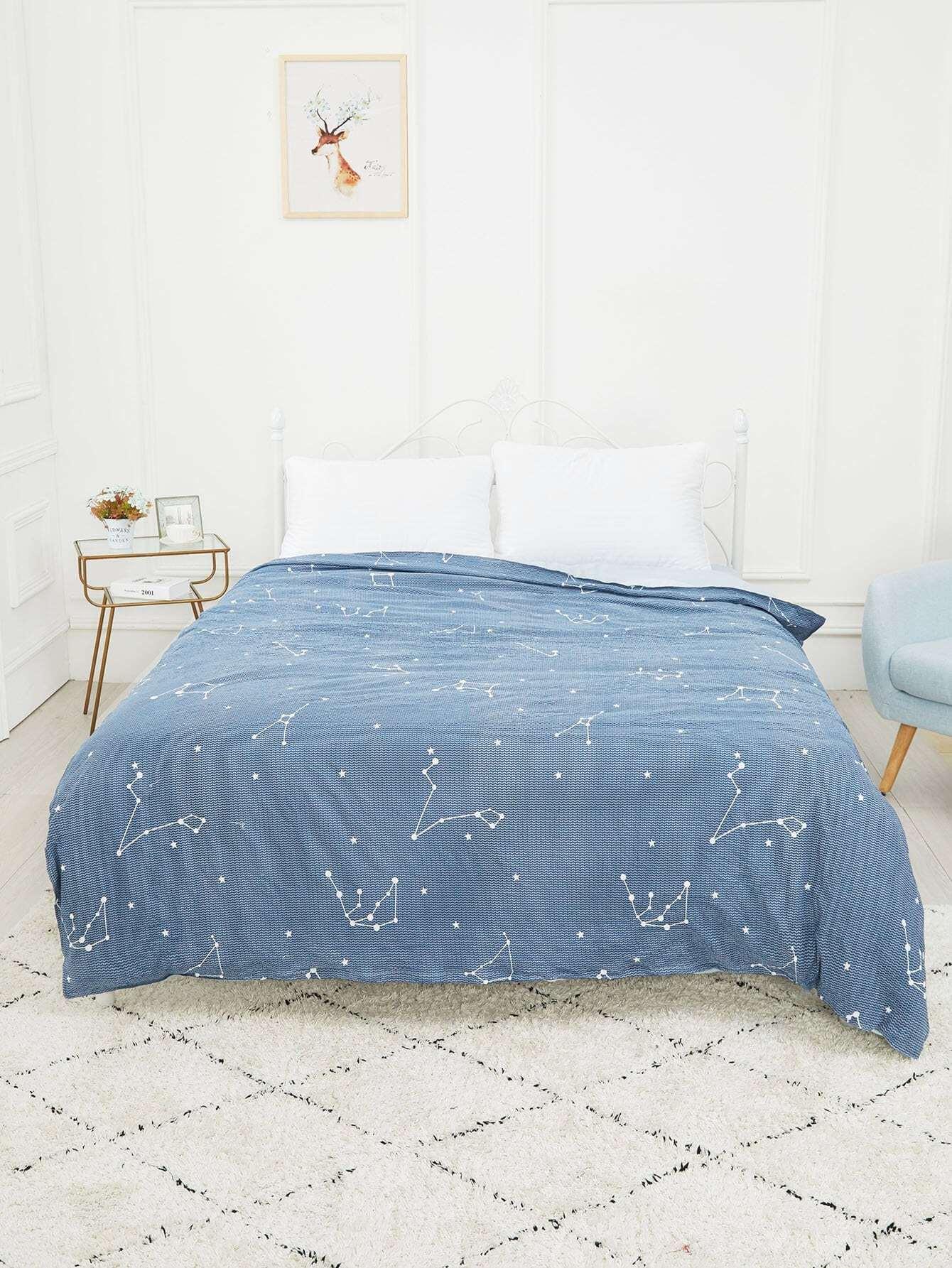 Купить Бархатное постельное бельё с рисунками Гороскопов 1 шт, null, SheIn