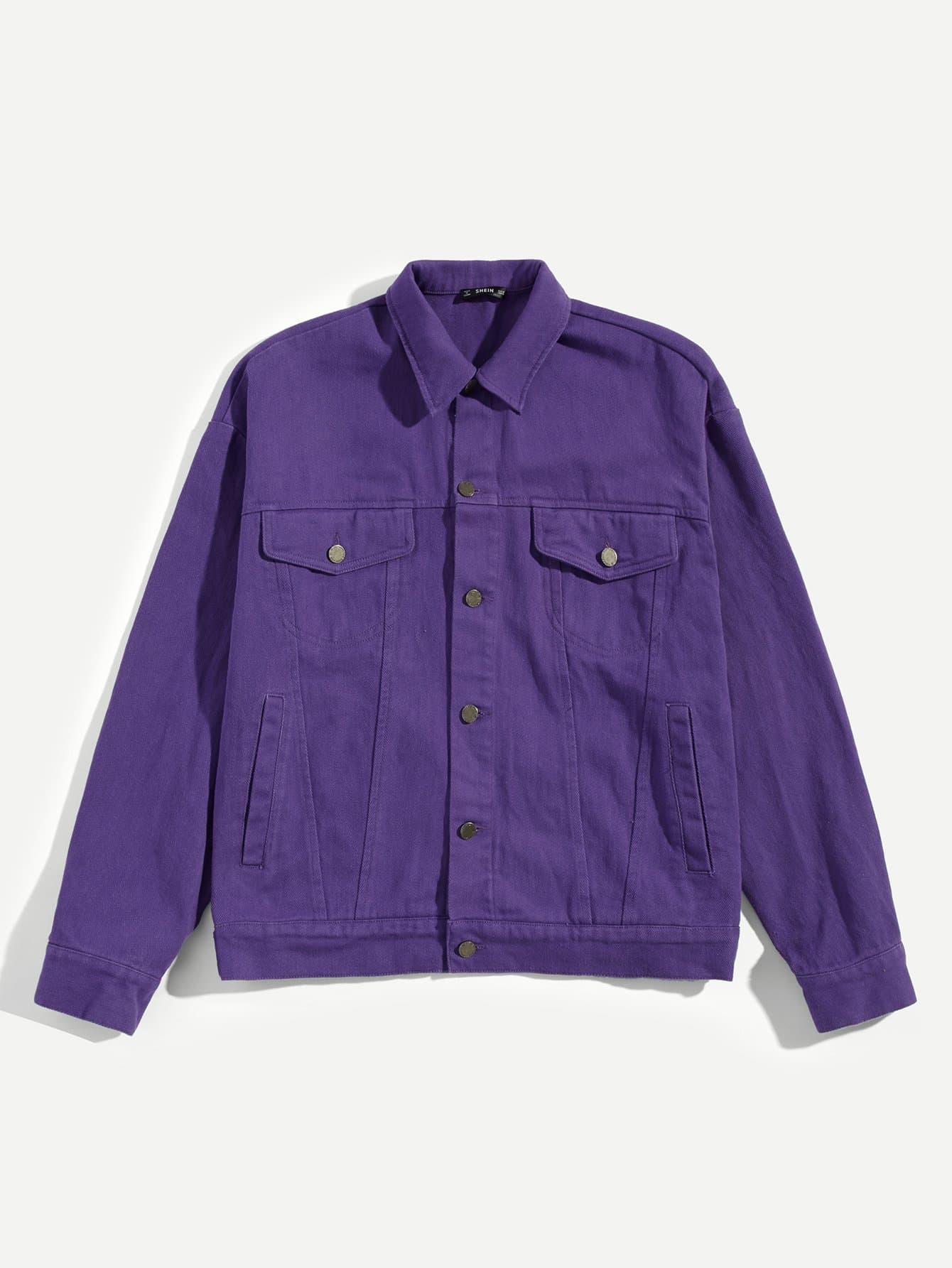 Купить Для мужчин куртка на пуговицах, null, SheIn