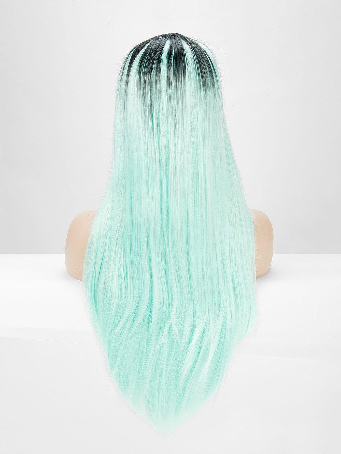 Купить Двухцветный прямой парик 1 шт, null, SheIn