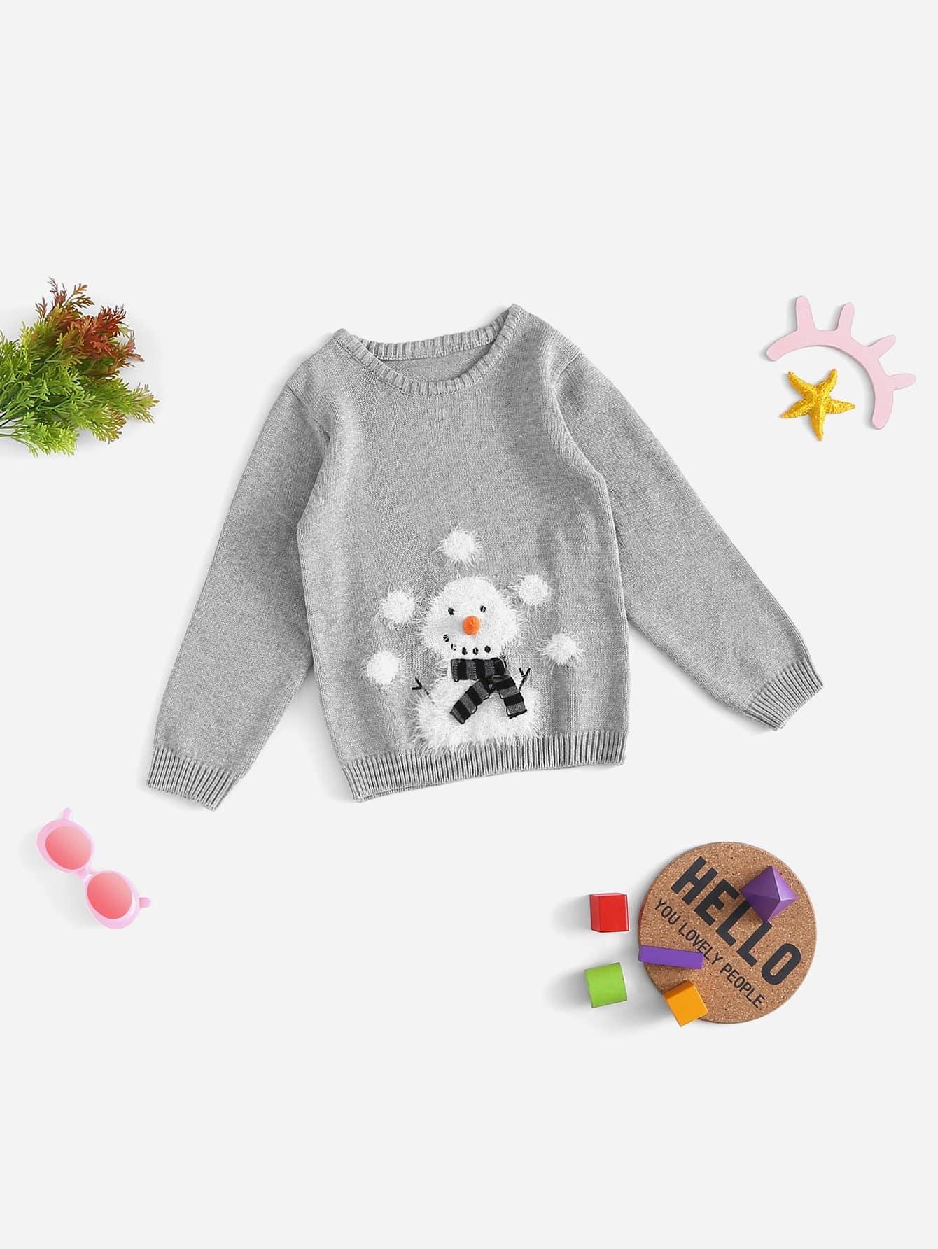 Купить Фуфайка с принтом снеговика для плода мужского рода, null, SheIn