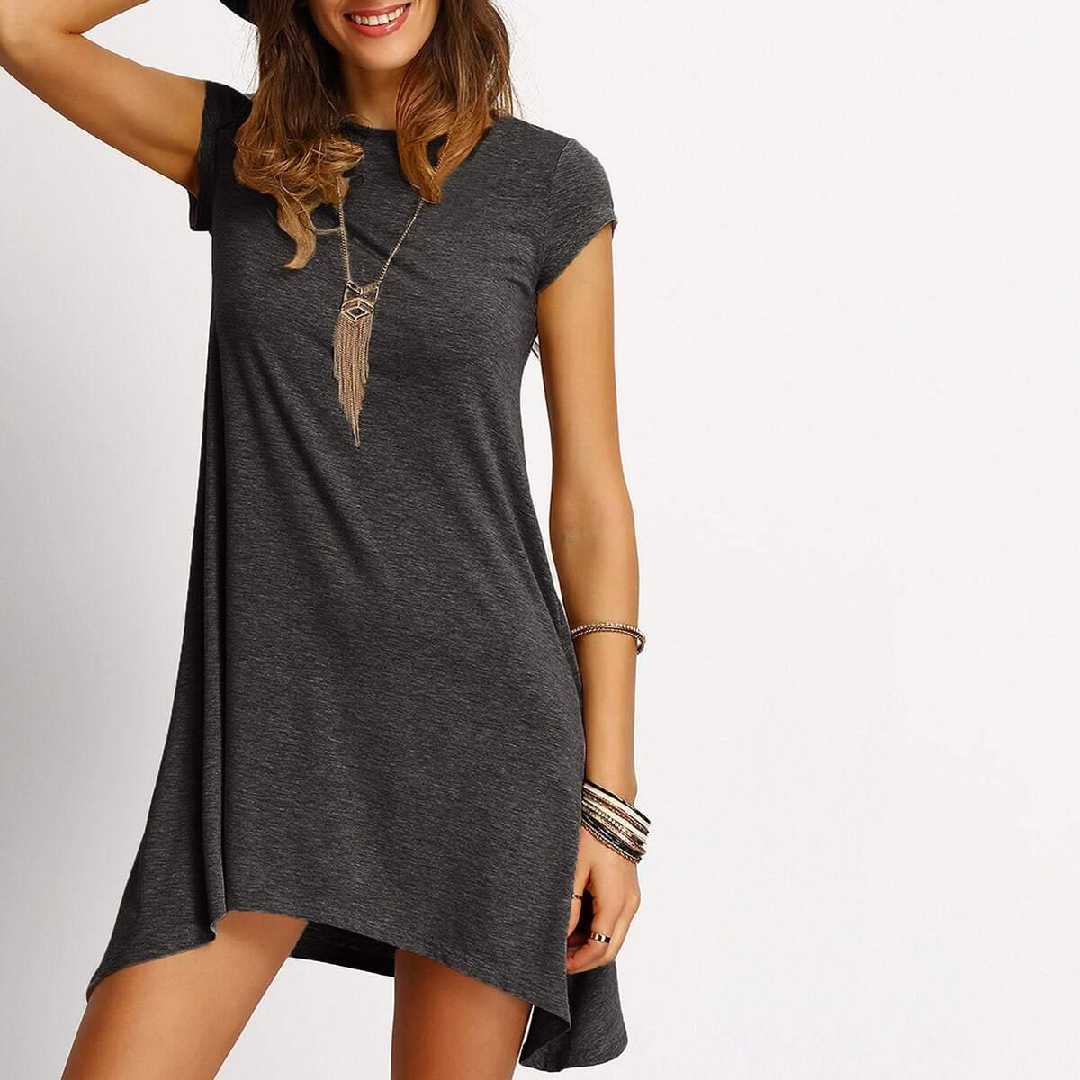 Асимметричное рубашка платье Image
