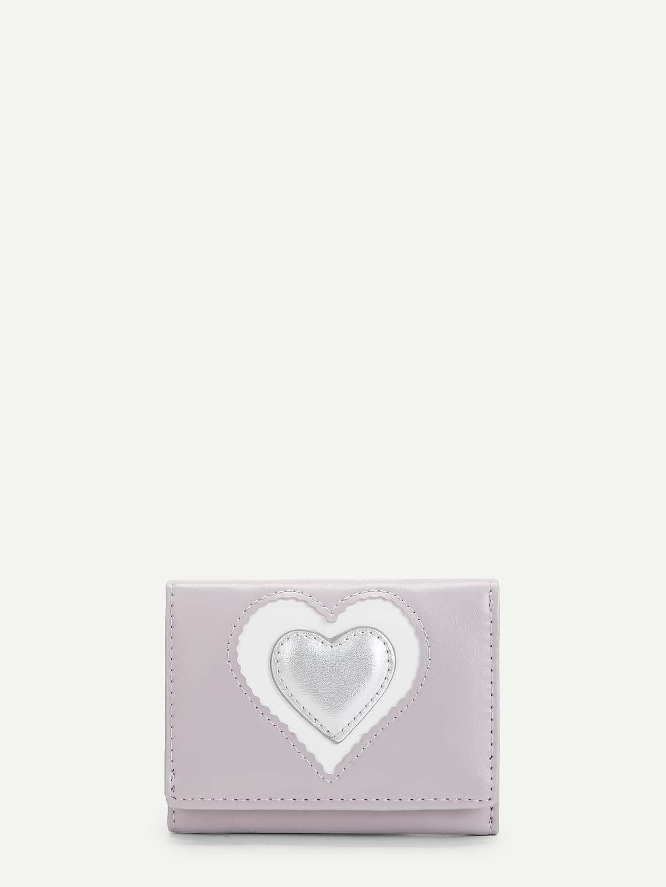 Купить Сердце форма PU кошелек, null, SheIn