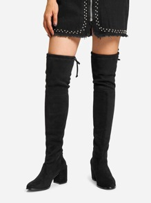 Black Comfort Boots, size features are:Bust: ,Length: ,Sleeve Length: