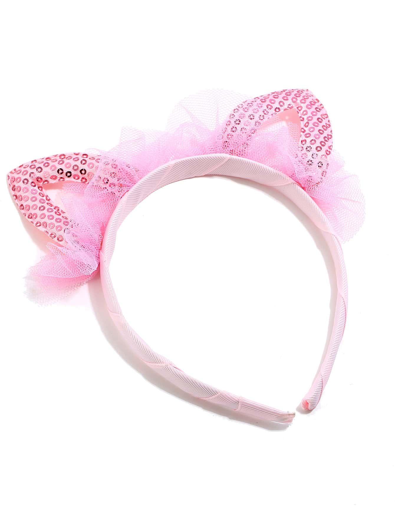 Купить Бандана с украшением уха кота для малышских девочек, null, SheIn