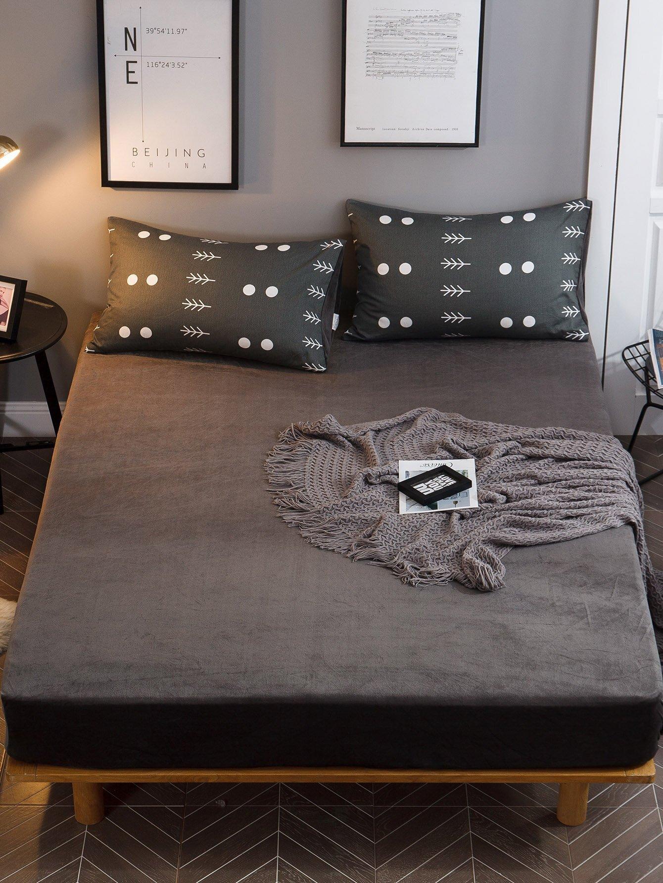 Купить Простое приталенное постельное бельё 1 шт, null, SheIn