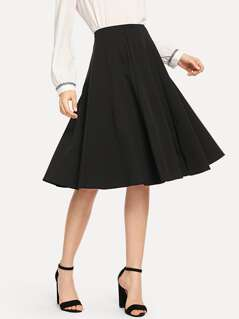 Pleated Solid Skirt