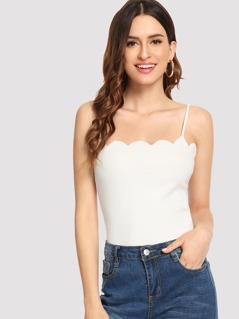 Scalloped Fitted Cami Top