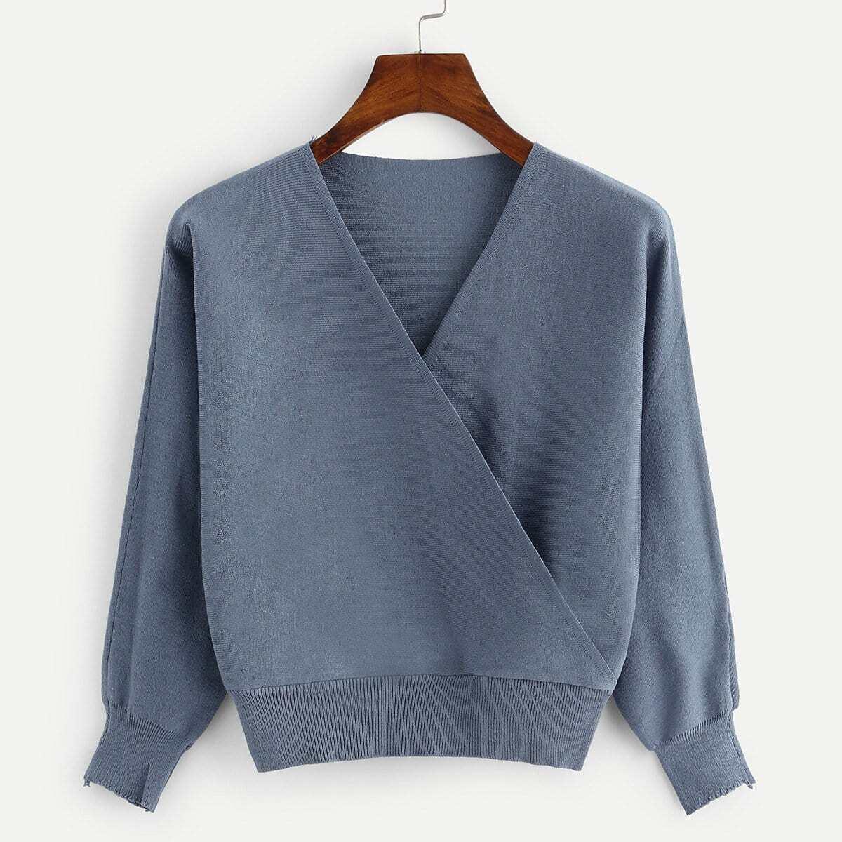 Gebreide sweater met v-hals