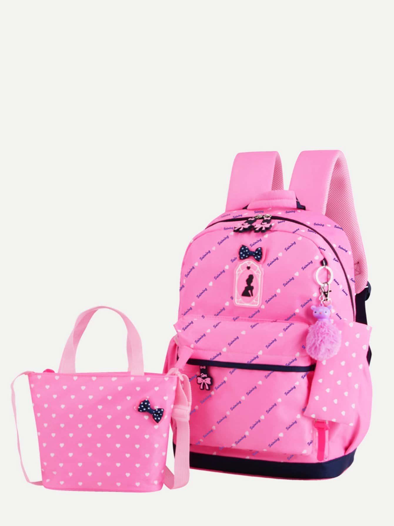 Купить Детский рюкзак с коробкой для карандашей 3шт., null, SheIn