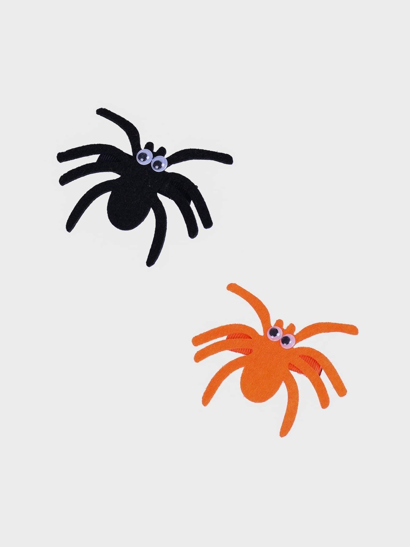 Купить 2 шт. Дизайн паук зажим для волос для девочек, null, SheIn
