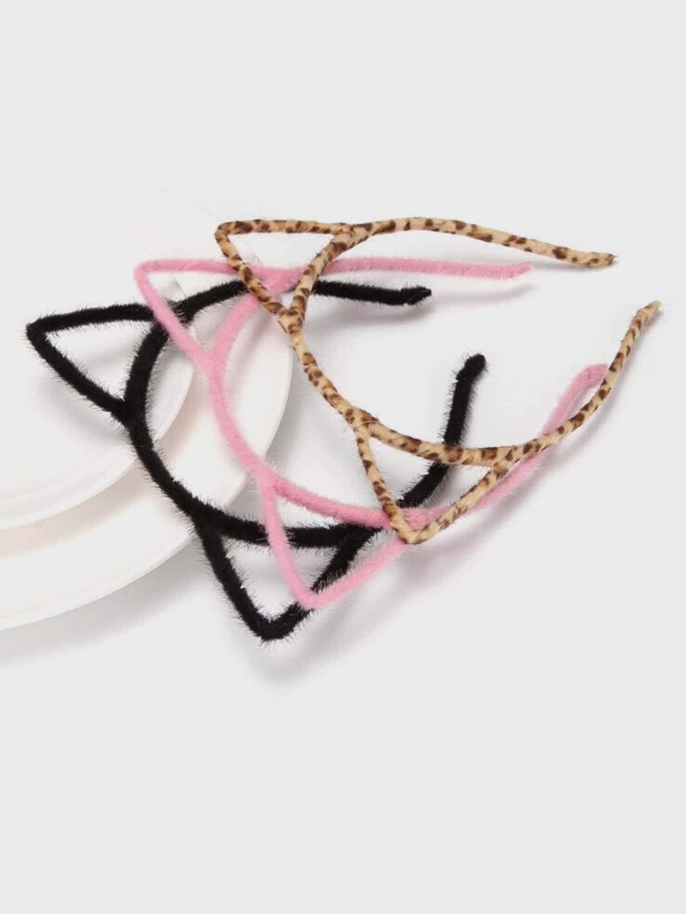 Купить 3шт. повязка на голову с украшением ушей для девочек, null, SheIn