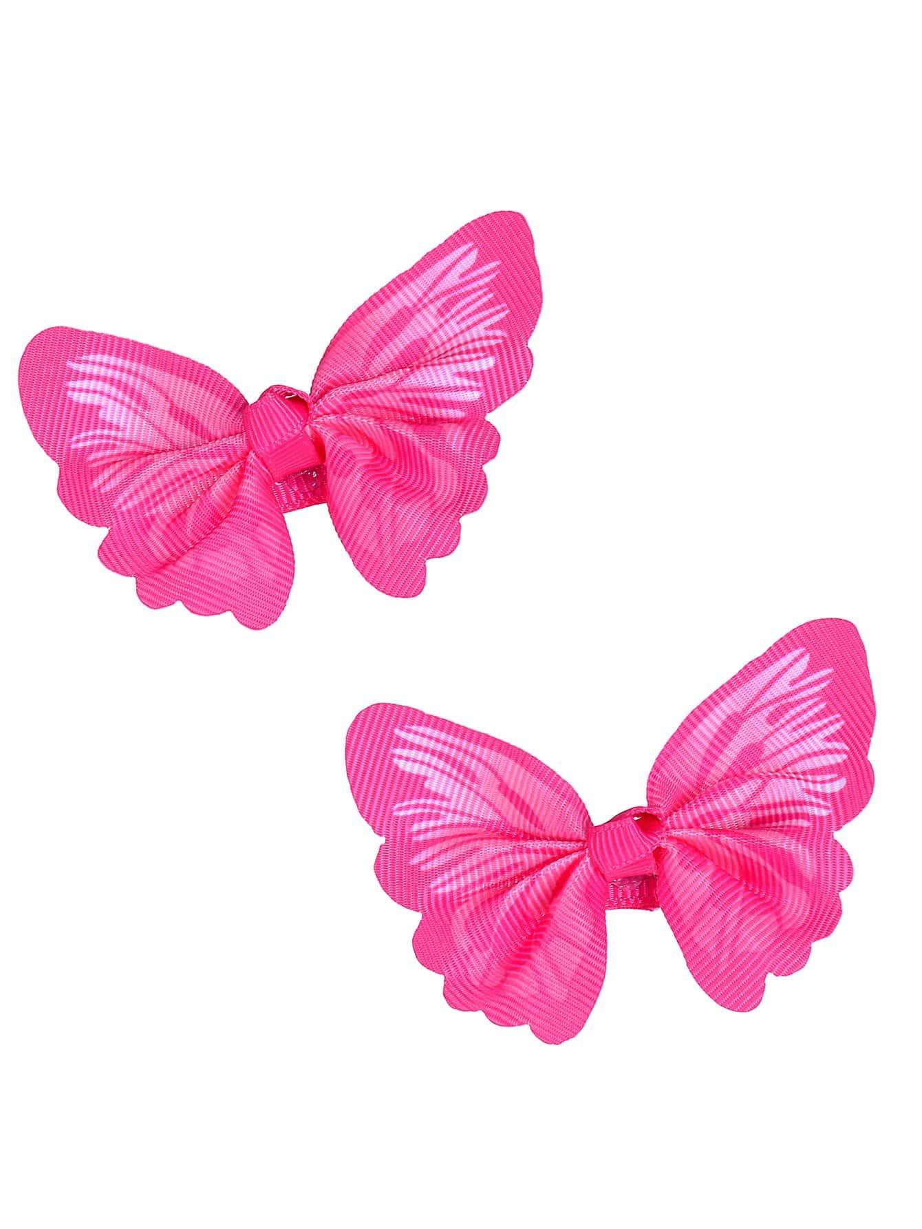 Купить Бабочка украшена зажим для волос 2шт.для девочек, null, SheIn